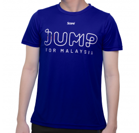 [PRE-ORDER] Active Wear - Royal Blue - Jump For Malaysia Standard Tee