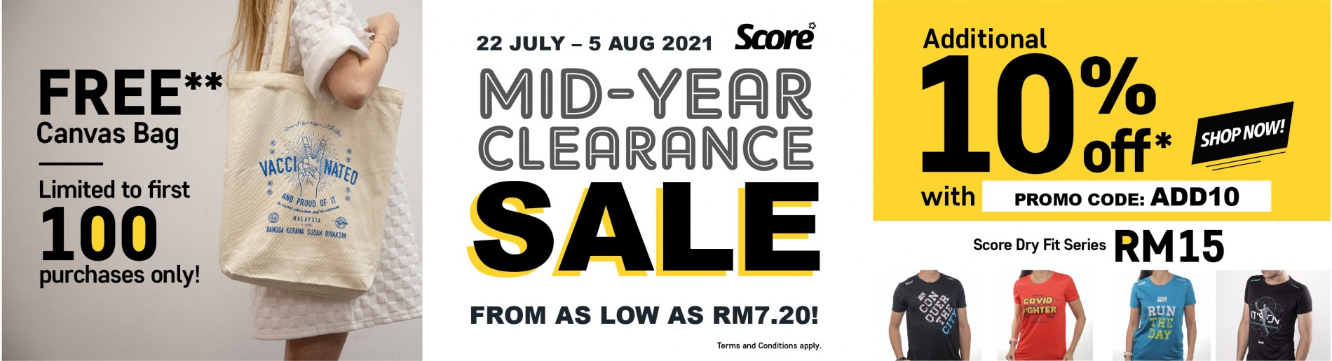 SCORE MID-YEAR CLEARANCE SALE